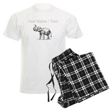 Custom Elephant Sketch Pajamas