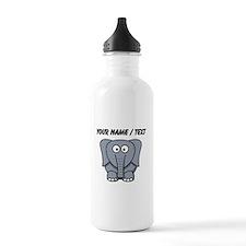 Custom Cartoon Baby Elephant Water Bottle
