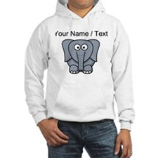 Custom Cartoon Baby Elephant Hoodie