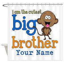Custom Big Brother Monkey Shower Curtain