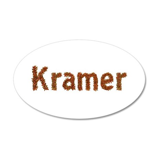 Kramer Fall Leaves 20x12 Oval Wall Decal