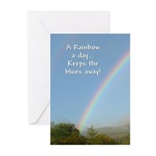 ...A Rainbow A Day... Note Card (Pk of 10)