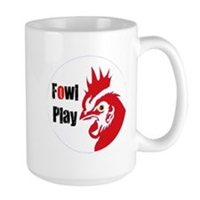 Fowl Play Red Rooster Mugs