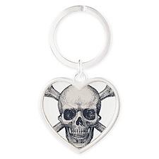 Skull & Bones Heart Keychain