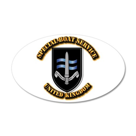 Special Boat Service - UK 35x21 Oval Wall Decal