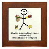 Balanced Diet Framed Tile