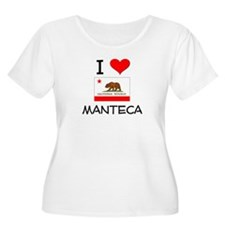I Love Manteca California Plus Size T-Shirt