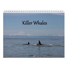 Black and white whale Wall Calendar