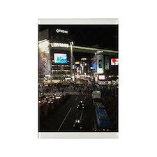 Shibuya At Night Rectangle Magnet