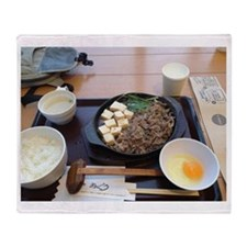 Sukiyaki Meal Throw Blanket