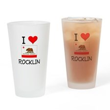 I Love Rocklin California Drinking Glass