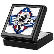 American Football Placekicker Keepsake Box