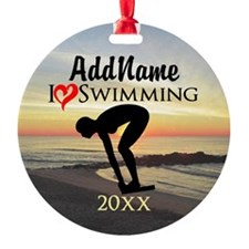 SWIMMING CHAMPION Ornament