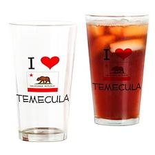 I Love Temecula California Drinking Glass