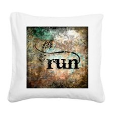 Run by Vetro Designs Square Canvas Pillow