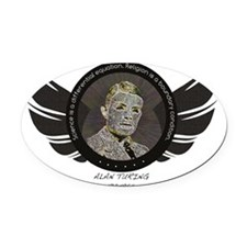 Alan Turing - Science Icon Oval Car Magnet