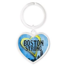 Boston Strong Heart Keychain