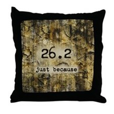 26.2 by Vetro Designs Throw Pillow