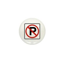No Parking - USA Mini Button (100 pack)