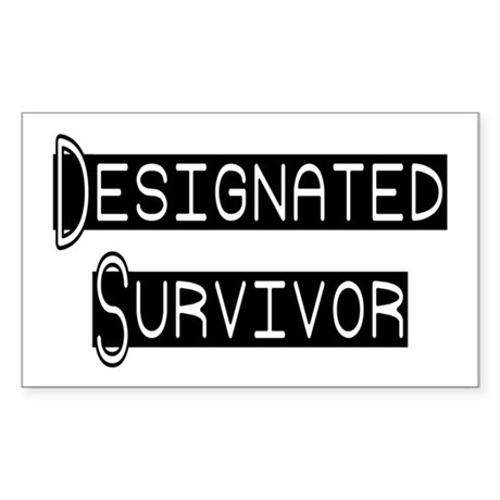 Designated Survivor Rectangle Sticker