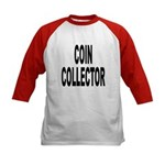 Coin Collector (Front) Kids Baseball Jersey