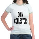 Coin Collector (Front) Jr. Ringer T-Shirt