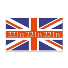 221B union jack Rectangle Car Magnet