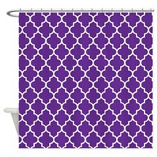 Purple Quatrefoil Shower Curtain