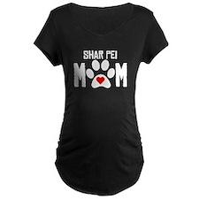 Shar Pei Mom Maternity T-Shirt