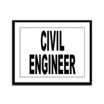 Civil Engineer Framed Panel Print