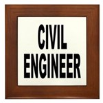 Civil Engineer Framed Tile