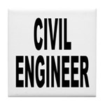 Civil Engineer Tile Coaster