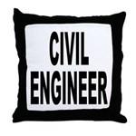Civil Engineer Throw Pillow