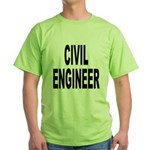 Civil Engineer Green T-Shirt