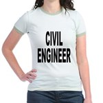 Civil Engineer (Front) Jr. Ringer T-Shirt