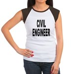 Civil Engineer (Front) Women's Cap Sleeve T-Shirt