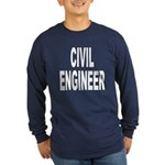 Civil Engineer (Front) Long Sleeve Dark T-Shirt