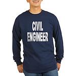 Civil Engineer (Front) Long Sleeve Dark T-Shirt