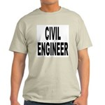 Civil Engineer (Front) Ash Grey T-Shirt