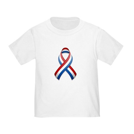 Red White & Blue Ribbon Toddler T-Shirt