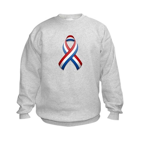 Red White & Blue Ribbon Kids Sweatshirt
