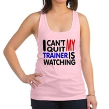 Funny Fitness trainer Racerback Tank Top