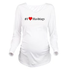 I heart hashtags Long Sleeve Maternity T-Shirt