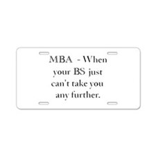 MBA Aluminum License Plate
