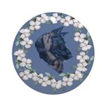 German Shepherd Profile Ornament (Round)