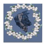 German Shepherd Profile Tile Coaster