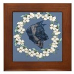 German Shepherd Profile Framed Tile