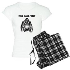 Custom Gorilla Sketch Pajamas