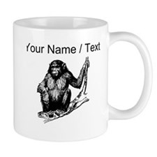 Custom Gorilla In Tree Mugs