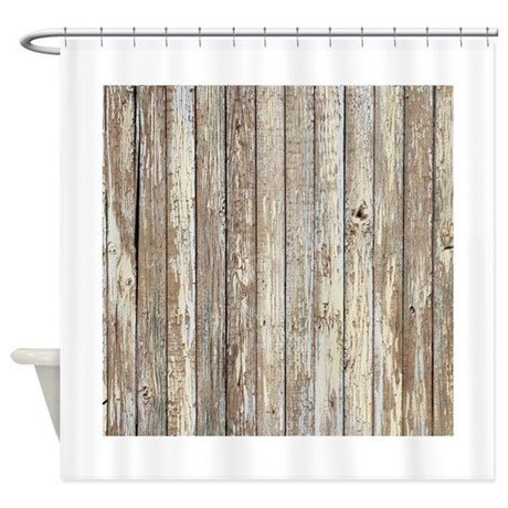 Rustic Barnwood Western Country Shower Curtain By Listing